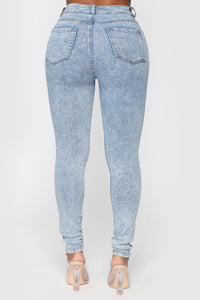All Washed Out Skinny Jeans - Light Acid Wash Angle 6