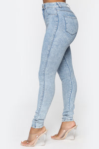 All Washed Out Skinny Jeans - Light Acid Wash Angle 4