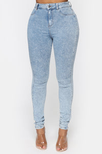 All Washed Out Skinny Jeans - Light Acid Wash Angle 2