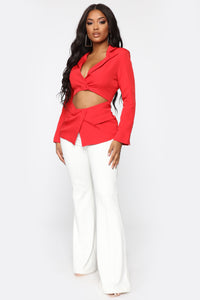 Will Leave You Stunned Blazer - Red Angle 2