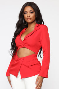 Will Leave You Stunned Blazer - Red Angle 1