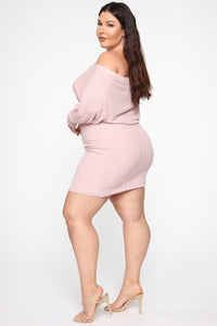The Sweetner You Are Mini Dress - Mauve