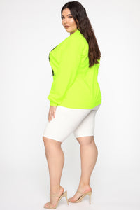 Always Humble Sweatshirt - Neon Green