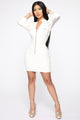 Werk Like I'm Broke Still Mini Dress - White