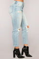 Alessandro Boyfriend Jeans - Light Blue Wash