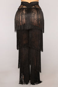 Always Extra Fringe Pants - Black