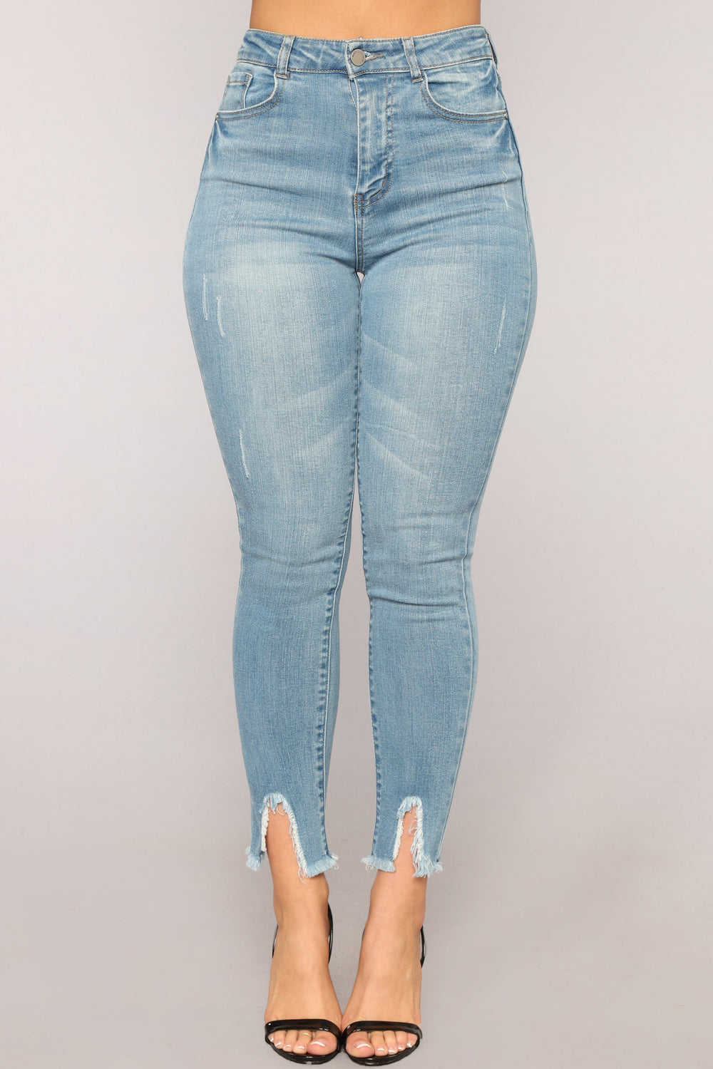 On The Loose Ankle Jeans - Light Blue Wash