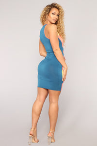 Engine Block Dress - Blue/Combo