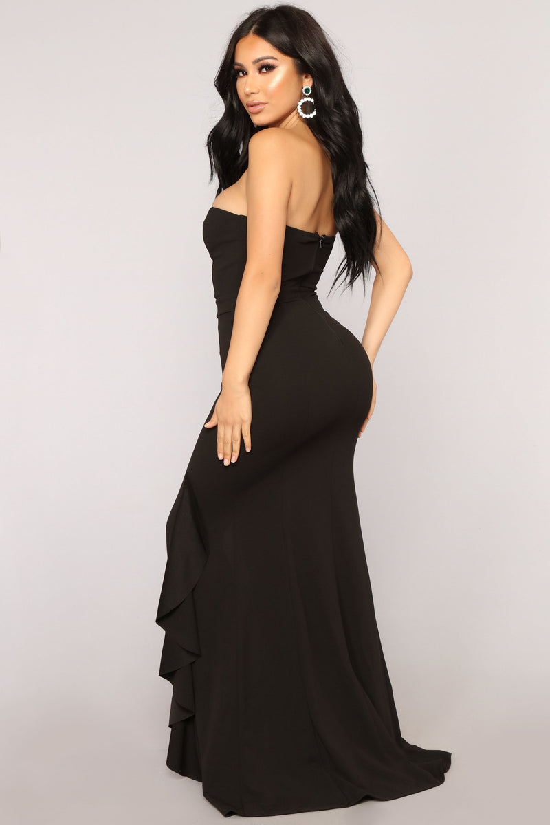 Perfect Night Mermaid Dress - Black