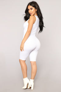 Savage Mode Romper - White