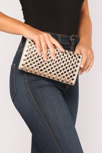 Strut The Streets Clutch - Gold
