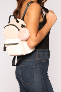 Pom Of Your Hands Backpack - Blush