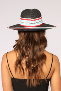 Keep It In The Family Sun Hat - Black Multi
