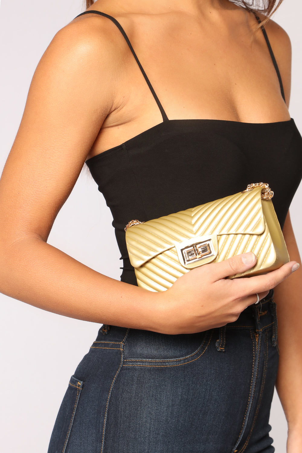 Veronica Rubber Bag - Gold
