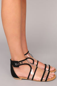 Let's Clear Things Up Sandal - Black