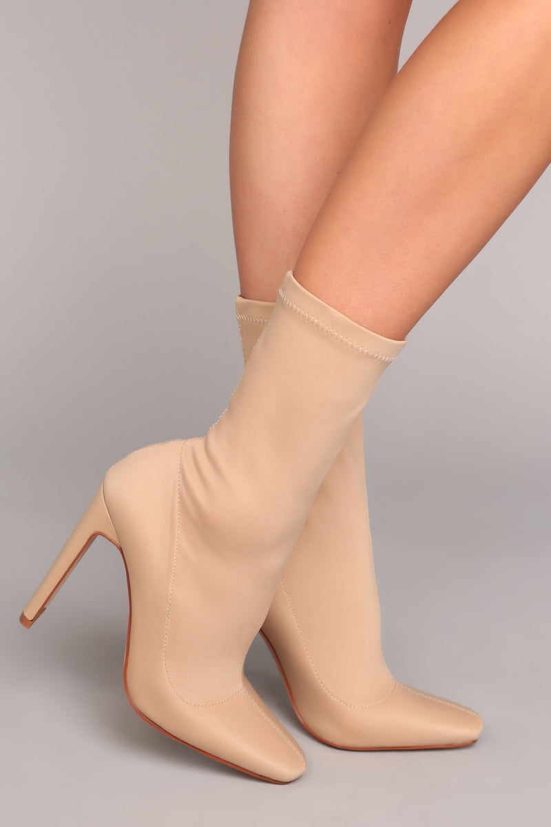 Can You Say Sleek Bootie - Nude