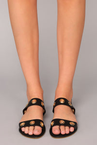 To Get To You Sandals - Black