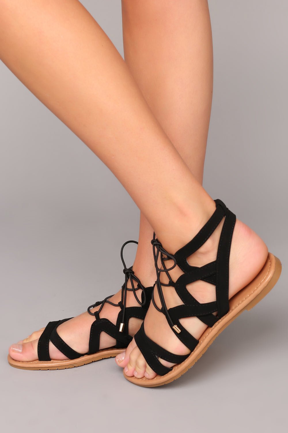 Twist It Up Sandal - Black