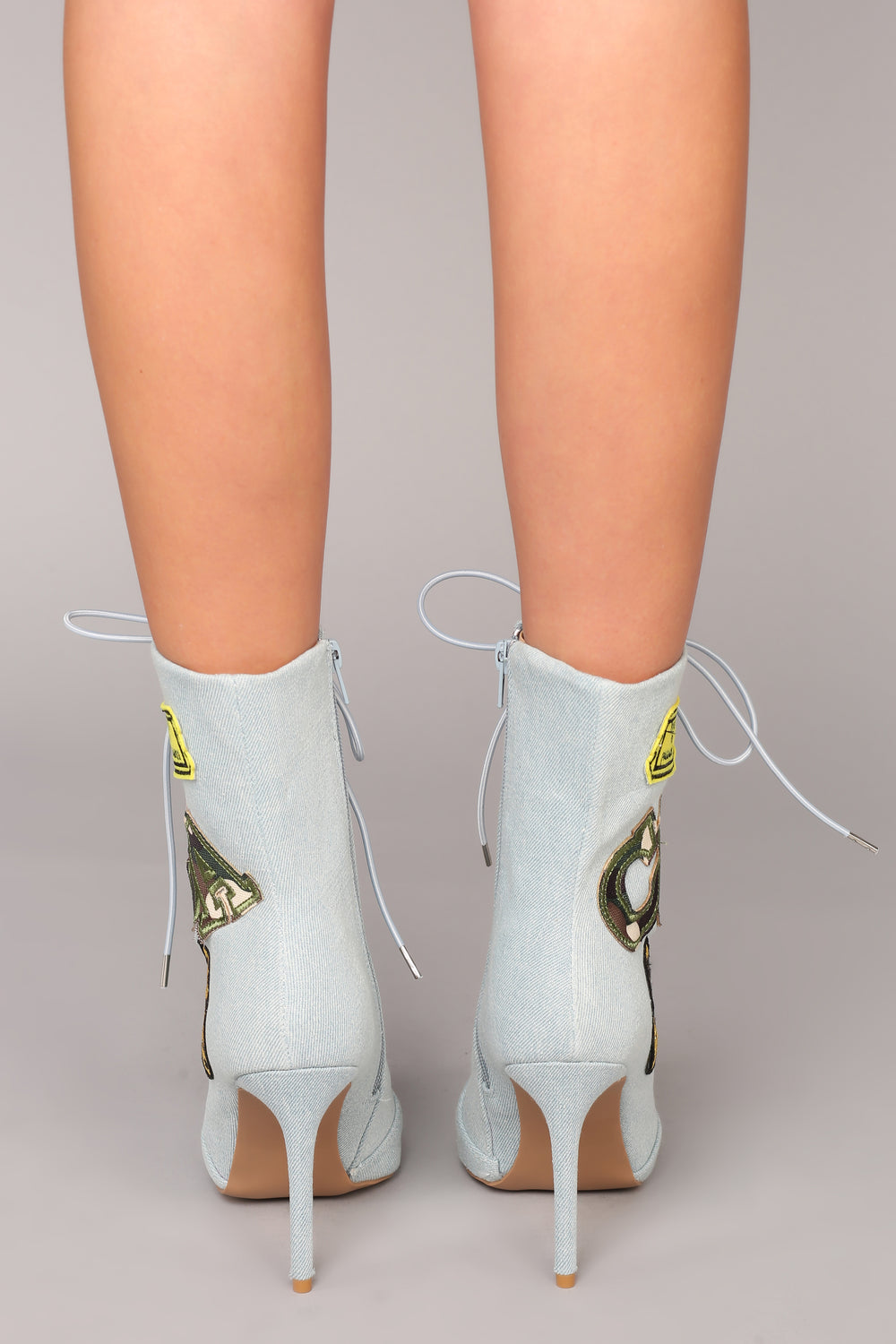 Flirty Flight Bootie - Denim