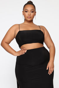 Mariah Slit Skirt Set - Black Angle 11