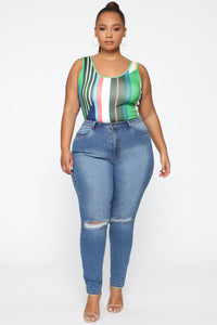 You're My Crush Bodysuit - Green/Multi