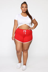 FN Exclusive Dolphin Shorts - Red