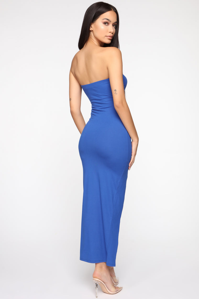 Rayna Tube Maxi Dress - Royal
