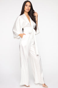 Walk All Over You Jumpsuit - Ivory