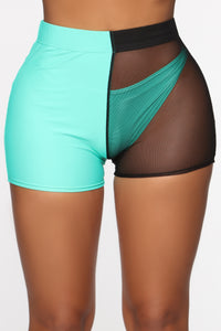 Came To Play Mesh Shorts - Mint