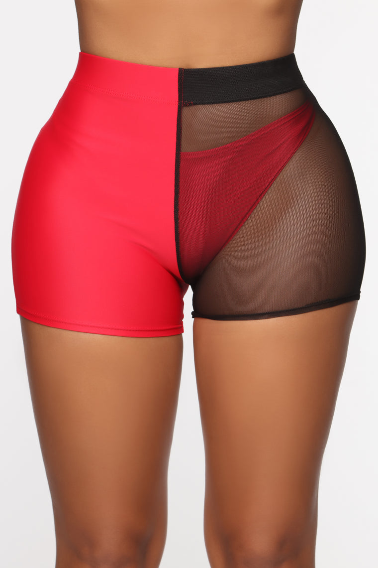 Came To Play Mesh Shorts - Red