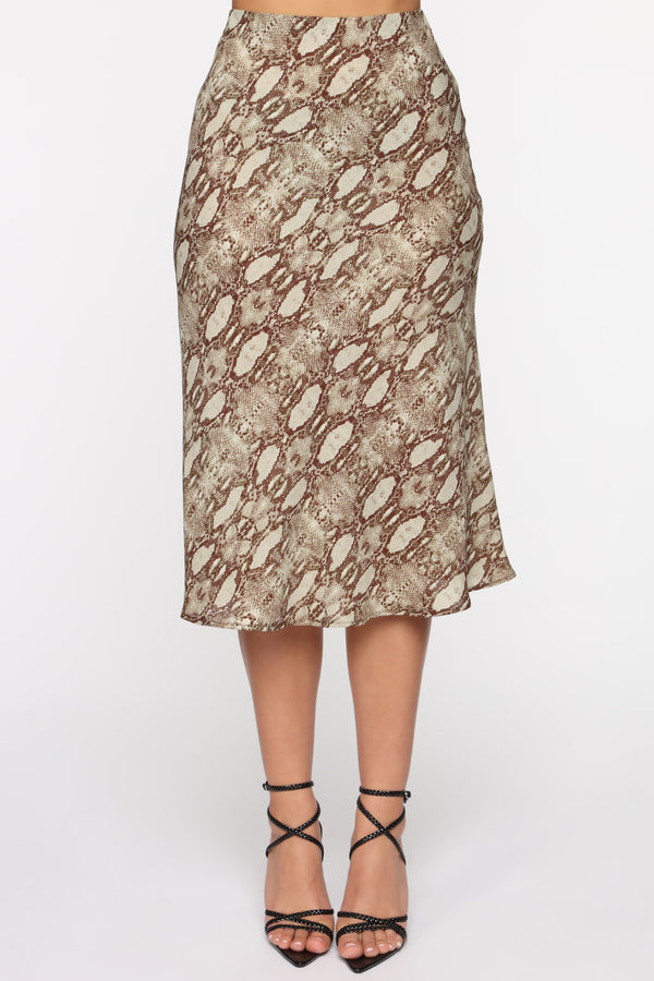 a123231c217 Jane Of The Jungle Midi Skirt - Olive