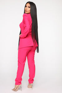 Style Entrepreneur Cut Out Suit Set - Fuchsia Angle 5