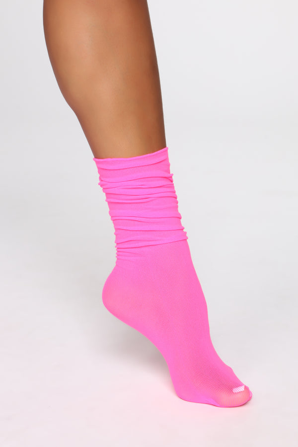 a028401fa Pretty Solid With Me Socks - Neon Pink