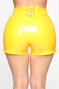 I Do What They Say I Can't Shorts - Yellow