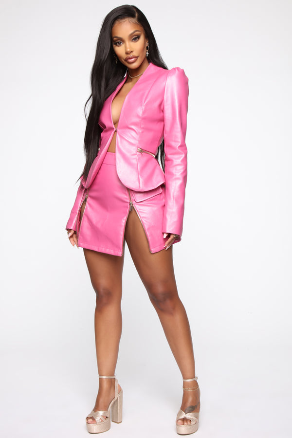296ed7cf61821 I Got The Drip Leather Jacket - Pink