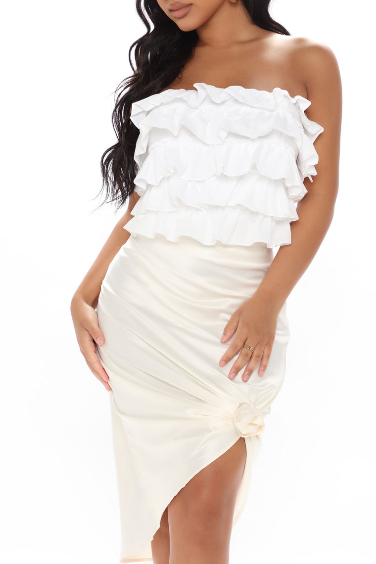 Peel Those Layers Ruffled Top - Off White