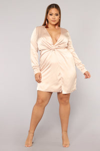 Sugar Free Dress - Taupe Angle 8
