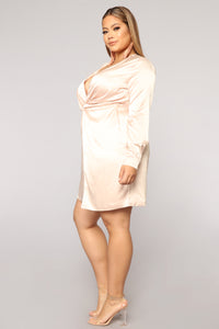 Sugar Free Dress - Taupe Angle 9