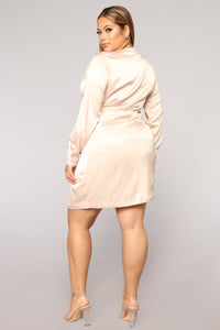 Sugar Free Dress - Taupe Angle 7