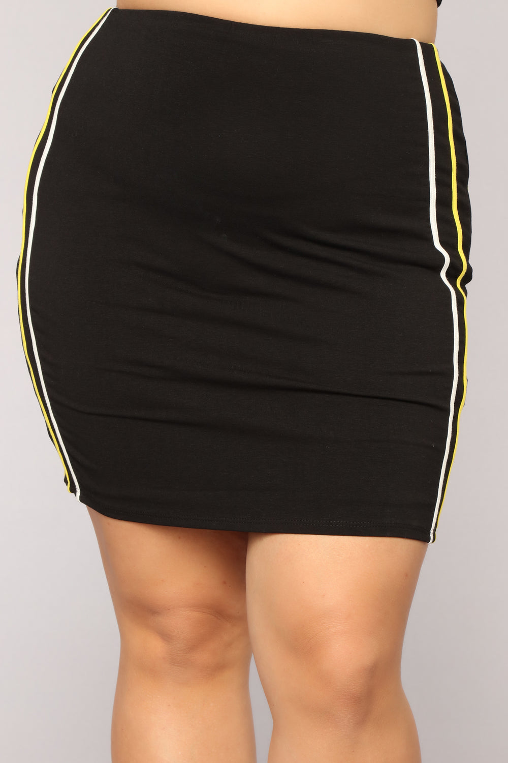 Fastest Move Stripe Skirt - Black