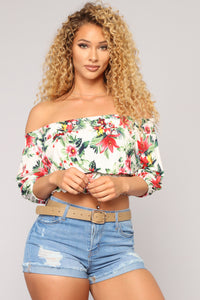 Flowers In The Field Top - White/Combo