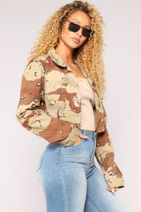 Militia Cropped Jacket - Sand