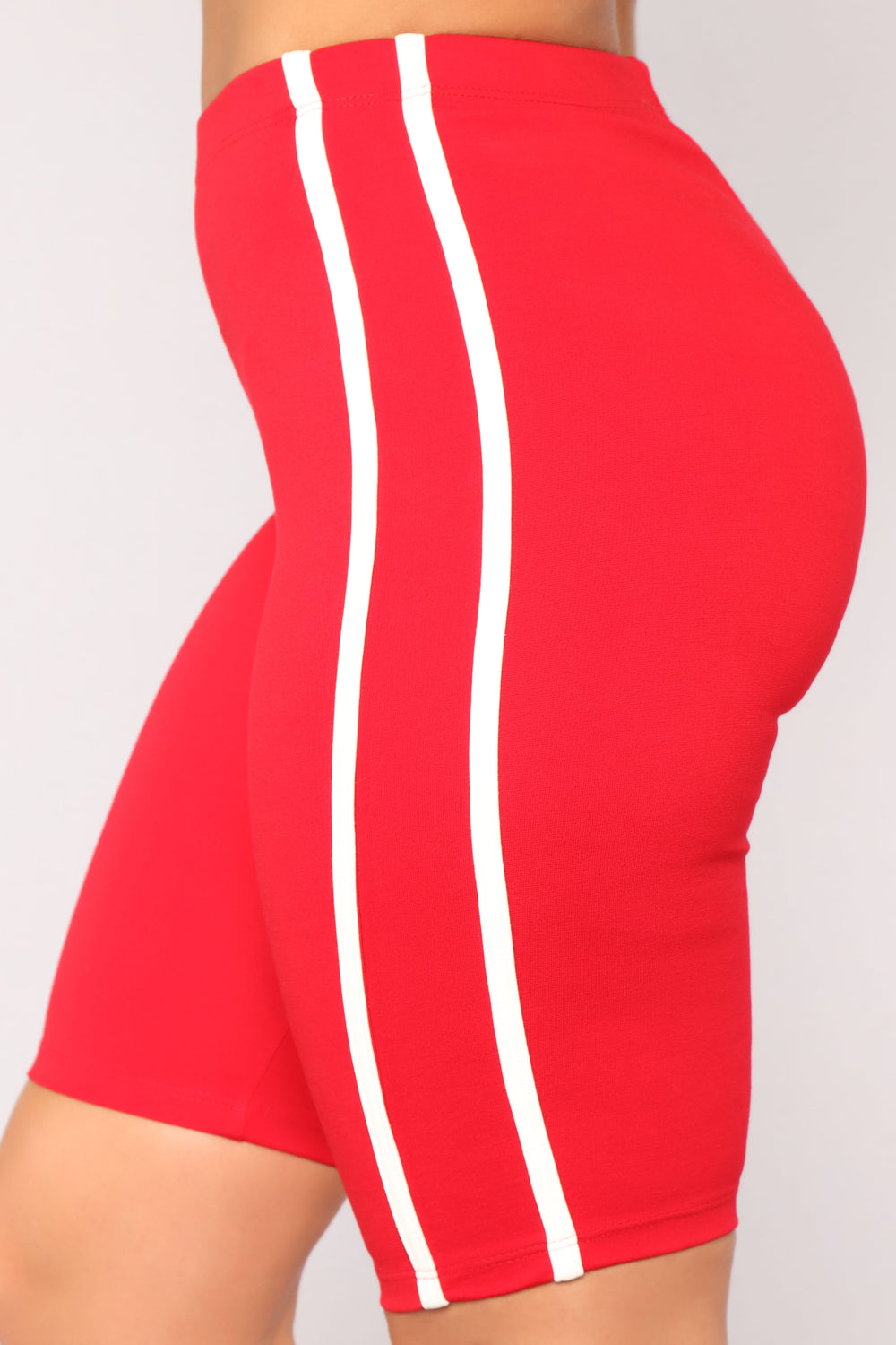 Tennis Champ Lounge Biker Shorts - Red