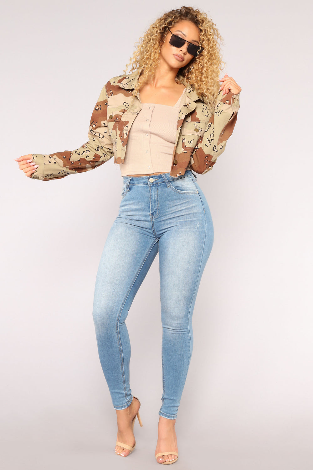 Square Love Affair Top - Taupe
