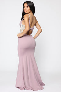 Imperial Beading Dress - Mauve