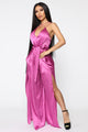 Feeling Spectacular Satin Jumpsuit - Purple