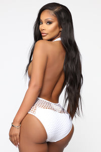 Caught In The Net Swimsuit - White