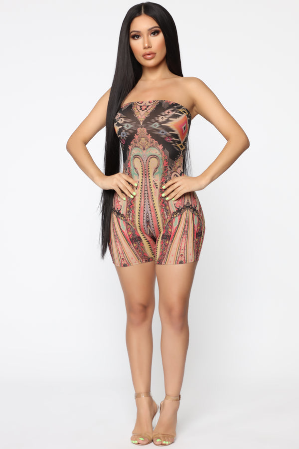 df002a44149 Beside You Tube Romper - Nude