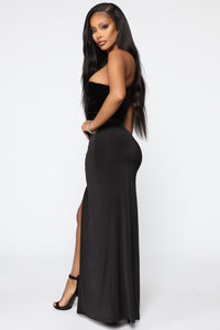 Always Winning One Shoulder Maxi Dress - Black Angle 3