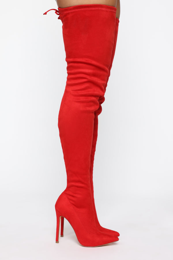 a89bdffaece4df Vicky Over The Knee Boot - Red
